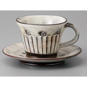 粉引しのぎコーヒー碗皿|duralex