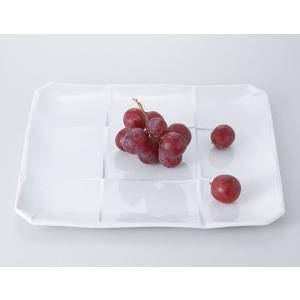 洋食器 モダン プレート/ 白釉折紙10ピースプレート(大) /前菜 スクエアプレート 業務用 レストラン 高級|duralex