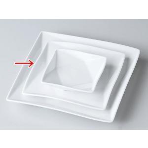 洋食器 モダン 取皿/ FP15cm角皿(白磁) /皿 プレート おしゃれ 業務用 レストラン|duralex