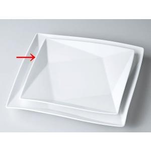 洋食器 モダン プレート/ FP25cm角皿(白磁) /前菜 スクエアプレート 業務用 レストラン 高級|duralex