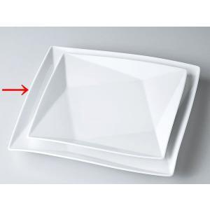 洋食器 モダン プレート/ FP30cm角皿(白磁) /前菜 スクエアプレート 業務用 レストラン 高級 duralex