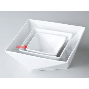 洋食器 モダン プレート/ FP10cm角鉢(白磁) /前菜 スクエアプレート 業務用 レストラン 高級 duralex