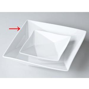 洋食器 モダン プレート/ FP25cmパスタ(白磁) /前菜 スクエアプレート 業務用 レストラン 高級|duralex