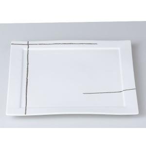 洋食器 モダン プレート/ プラチナライン正角27cm皿 /前菜 スクエアプレート 業務用 レストラン 高級|duralex