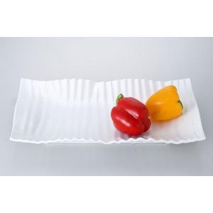洋食器 モダン プレート/ ヨーロピアン40cm長角プレート /前菜 スクエアプレート 業務用 レストラン 高級|duralex