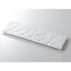 洋食器 モダン フラット プレート/ 白御影石肌長角36cm皿 /業務用 レストラン 高級|duralex