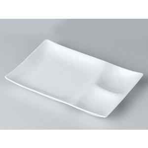 洋食器 モダン 仕切プレート/ kowakeランチプレート 白磁 /ビュッフェ タレ皿 薬味皿 突き出し皿 おしゃれ 業務用 レストラン|duralex