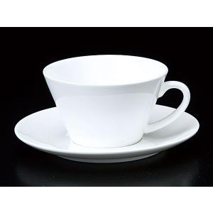 コーヒーカップ ソーサー/ シャンテ V型スープカップ&ソーサー /碗皿 業務用 ホテル レストラン ホワイト シンプル|duralex