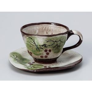 コーヒーカップ ソーサー/ 粉引ぶどうコーヒーカップ&ソーサー /碗皿 業務用 ホテル レストラン おしゃれ|duralex