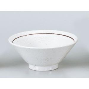 中華 ライス丼 ご飯茶碗/ 粉引ライン4.8ライス /業務用 飯碗|duralex