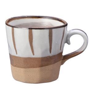 モダンな雰囲気の、瀬戸焼の和風マグカップです。 コーヒー、紅茶、ホットミルク等、何にでもお使い頂けま...