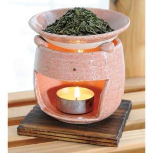 香炉 陶器/ 茶香炉 ピンク /アロマ プレゼント 贈り物 箱入り duralex