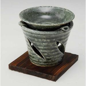 香炉 陶器/ 京織部 茶香炉 /アロマ プレゼント 贈り物 箱入り duralex