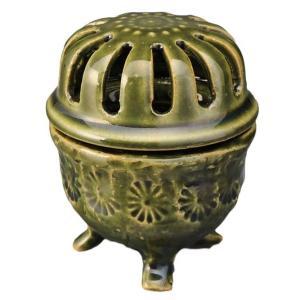 陶器 手造り 香炉 香立て/ 織部印花 香炉(小) /置物 インテリア プレゼント 贈り物|duralex