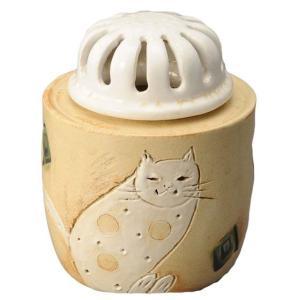 陶器 手造り 香炉 香立て/ 白猫 香炉 /置物 インテリア プレゼント 贈り物|duralex