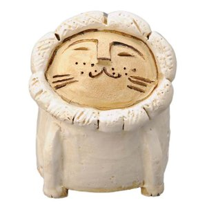 陶器 手造り 香炉 香立て/ ライオン 香立鉢(白) /置物 インテリア プレゼント 贈り物|duralex
