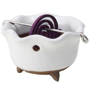 手造り 香炉 香鉢/ 白志野 花型 香鉢 /香り アロマ 癒やし リラックス インテリア プレゼント 贈り物|duralex