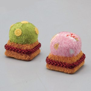 雛飾り  ひな飾り 縮緬/ ちりめん 桜・橘 /お雛様 ミニ雛  飾り雛 手作り