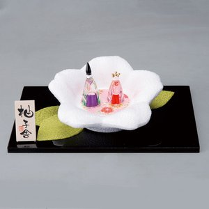 雛飾り  ひな飾り 雛人形 ひな人形/ ガラス桜飾り雛 /ミニ雛 硝子 お雛様 飾り雛