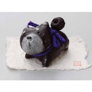 柴犬/ 工房SAO作黒柴ほのぼの /インテリア 置物|duralex
