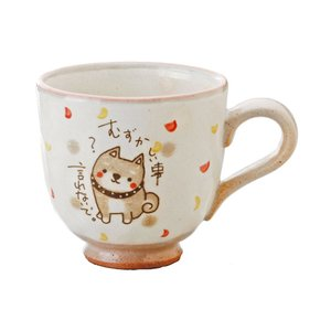 和食器 柴犬 かわいい/ 柴犬 マグ(赤)  /マグカップ 箱入 癒やし プレゼント 母の日 結婚祝い 誕生日 敬老の日 犬好き|duralex