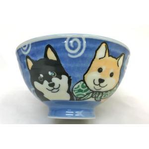犬好き 飯椀 飯器/ 柴犬茶碗 青 中平 /女性用 子供用 ポイント消化|duralex