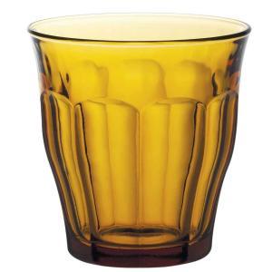 ガラス コップ 強化/ 熱湯 レンジ 食洗機OK デュラレックスピカルディアンバー 220cc グラス タンブラー DURALEX /業務用 ホット カフェ おしゃれ ポイント消化|duralex