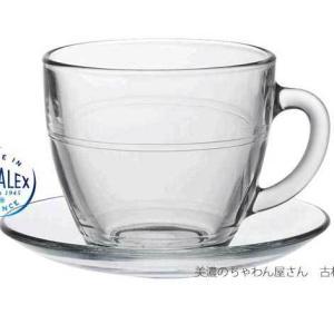 熱湯 電子レンジ 食洗機OK ガラス 碗皿 強化/ デュラレックス DURALEX ジゴン コーヒー&ティーカップ&ソーサー 220cc /カフェ 業務用 家庭用 コーヒー 透過|duralex