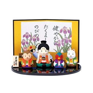 端午の節句。陶器の五月人形です。 マンションやアパートなどで、大きな鯉のぼりや鎧兜や人形を飾ることが...