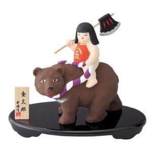 五月人形 コンパクト 出世 こどもの日 金太郎 熊のり(改)