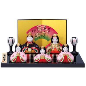 雛人形 コンパクト 陶器 小さい 可愛い ひな人形/ 錦彩華みやび飾り雛 /ミニチュア 初節句 お雛様 おひな様 雛飾り|duralex