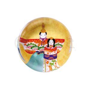 雛人形 コンパクト 陶器 小さい 可愛い ひな人形/ 玻璃箸置き(立雛) 5ヶ入 /ミニチュア 初節句 お雛様 おひな様 雛飾り|duralex
