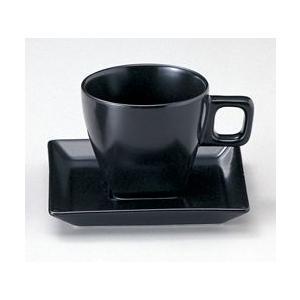 スクエアーブラック コーヒーカップ&ソーサー|duralex