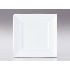 プレート 皿/ マーレ 27cm角皿 /洋食器 業務用 ホテル レストラン 高級 プレミアム 白磁 ホワイト|duralex