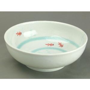 和食器 中鉢 シリーズ物 清流めだかとすいすい金魚 すいすい金魚 軽量6.5麺鉢|duralex