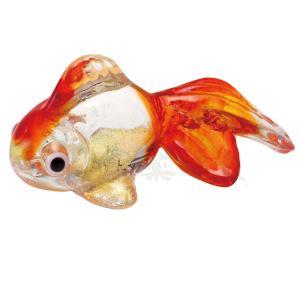 夏のインテリア/ ガラス金魚箸置き(朱) /玄関やテレビ台に飾ってみて ポイント消化 duralex