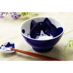 茶碗 飯碗 飯器/ ねこちぐら 中平 ハチワレ /猫 ネコ 可愛い 家庭用 和み 癒やし ポイント消化|duralex