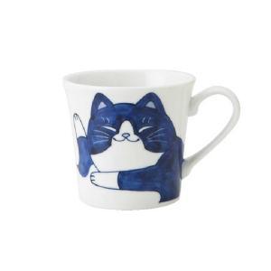 軽量 薄手 マグカップ/ ねこちぐら マグ 300cc ハチワレ /猫 ネコ 可愛い 家庭用 和み 癒やし ポイント消化|duralex