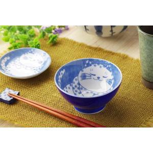 茶碗 飯碗 飯器/ ねこちぐら 中平 ブチ /猫 ネコ 可愛い 家庭用 和み 癒やし /和食器 ポイント消化|duralex