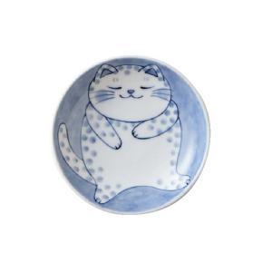 軽量 薄手 小皿 10cm/ ねこちぐら 3.0皿 ブチ /猫 ネコ 可愛い 家庭用 和み 癒やし /和食器 ポイント消化|duralex