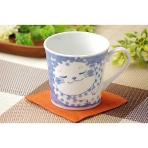 軽量 薄手 マグカップ/ ねこちぐら マグ 300cc ブチ /猫 ネコ 可愛い 家庭用 和み 癒やし /和食器 ポイント消化|duralex
