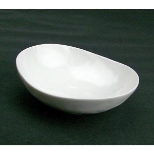 / 白磁マット まゆ型中鉢 /和食器 ポイント消化|duralex