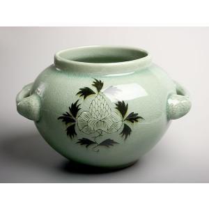 / 高麗青磁 ボタン手付花瓶 /和食器|duralex