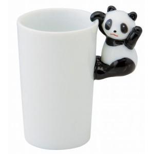 手を振るパンダの仕草が可愛いカップです。  サイズ: 8.4x5.5x高さ 9.2cm  生産:国内...