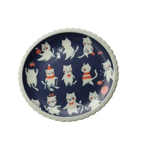 大皿 家族料理皿/ ねことにちようび24.5cmプレート /洋食器 猫好き 飾り皿にも 贈り物|duralex