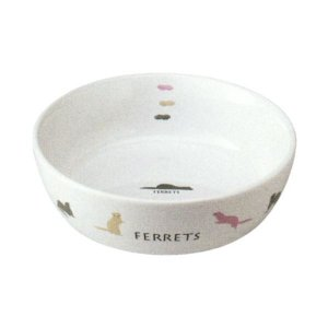 フェレットのラウンド食器 約370ml 陶器製 ES-18 ...