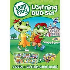 リープフロッグ Leap Frog DVD3枚+フラッシュカード26枚セット 北米版DVD Learning DVD set フォニックス入門編としてもお勧めです
