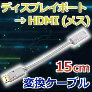 DisplayPort HDMI 変換ケーブル 0.15m|dvsshops