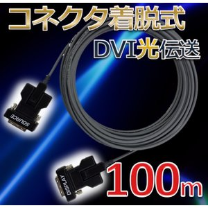 NAPA DVI/DVI コネクタ着脱式 光延長ケーブル 100m|dvsshops