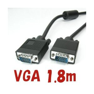 RGBケーブル 1.8m ディスプレイケーブル VGAケーブル WUXGA(1920x1200)対応